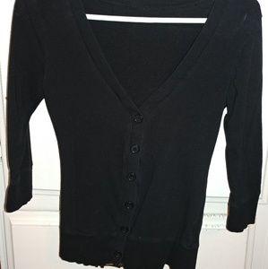 Black V-Neck Cardigan